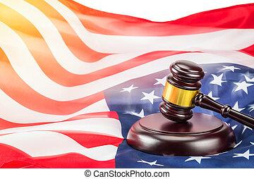 小槌, 旗, アメリカ
