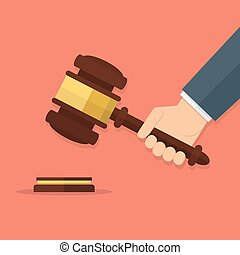 小槌, 裁判官, 手を持つ