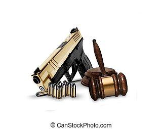 小槌, 銃弾, 銃, 手
