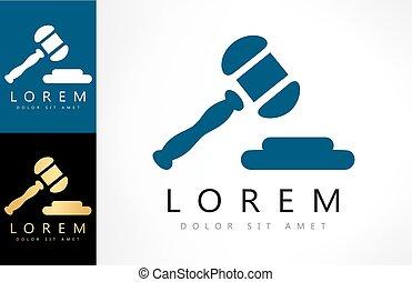 小槌, logo., 法廷
