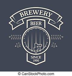 小樽, ビール, text., あなたの, リボン