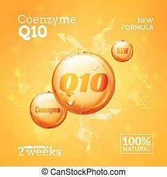 小滴, 最高, オイル, 自然の美しさ, q10., 本質, コラーゲン, solution., coenzyme, ...