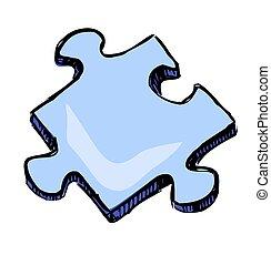 小片, の, ジグソーパズル