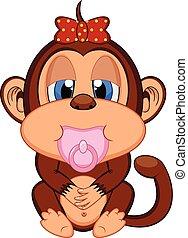 小猴子, 卡通