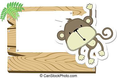 小猴子, signboard