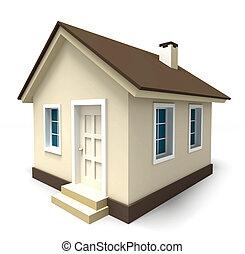 小的房子, 在, 布朗, 顏色