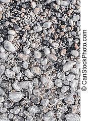 小石, 層, 水, 海, 下に, 浜, 透明
