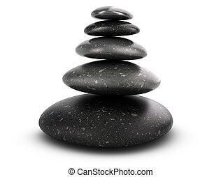 小石, 概念, 5, 積み重ねられた, 調和
