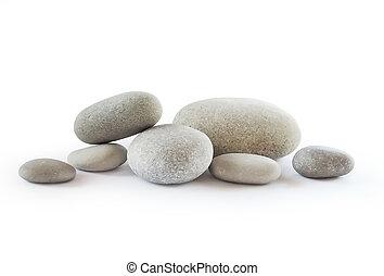 小石, 白, 隔離された