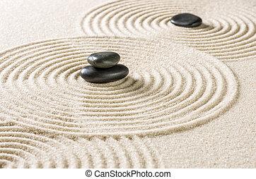 小石, 黒, zen 庭, 日本語