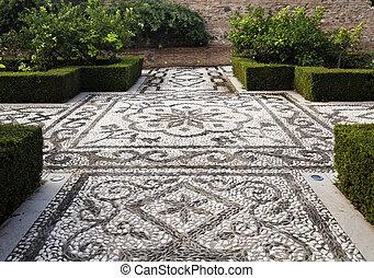 小石, alhambra, モザイク