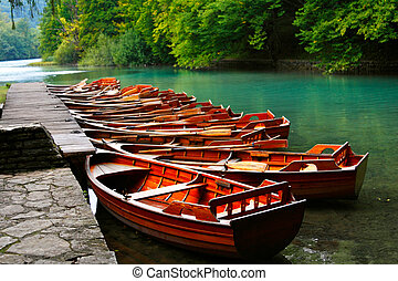 小船, 克羅地亞, 國家公園, plitvice