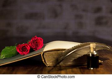 小説, ロマンチック, 背景