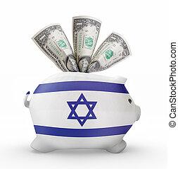 小豚, イスラエル共和国 旗, 銀行, .(series)