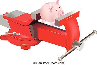小豚, 旋回装置, シンボル, 銀行, 副