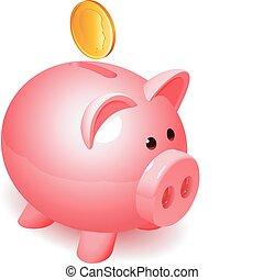 小豚, bank.