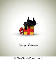 小貓, 睡覺, 上, 圣誕節禮物, 箱子