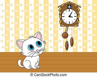 小貓, 觀看, 布谷鳥鐘