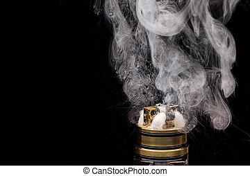 小道具, 人気が高い, グリセリン, e-liquid, 電子, 燃焼, e-cig, cigarette., vape, vaporizing