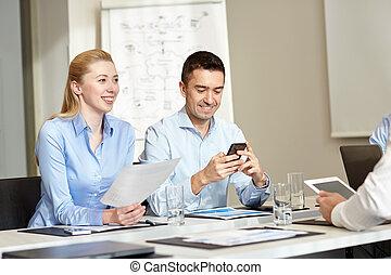 小道具, 微笑, ビジネスオフィス, 人々