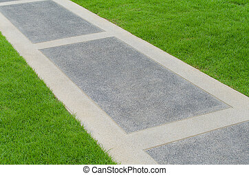 小道, ∥で∥, 緑の草, パークに
