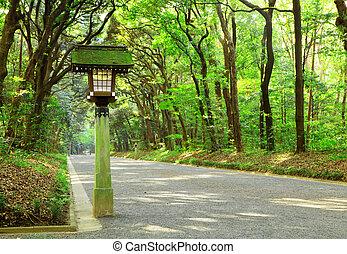 小道, 日本の庭