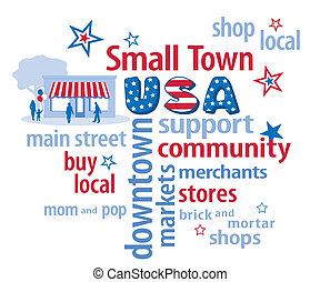 小鎮, 美國