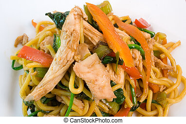 小雞, 以及, 面條, 騷動油煎食品