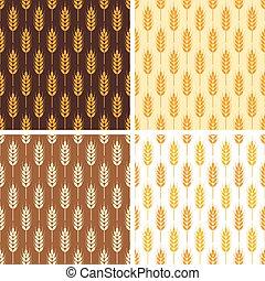 小麥,  seamless, 彙整, 圖樣, 矢量, 重复