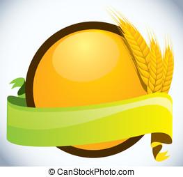 小麦, ears., -, 大麦