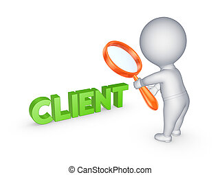 小, 人 , 同时,, 词汇, client.