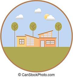 小, 房子, 插圖
