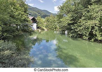 小, 河, seeache, 在, austrian alps