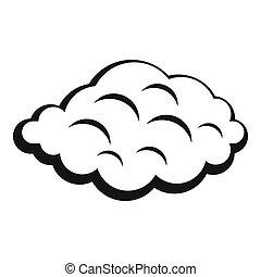 小, 雲, 圖象, 簡單, 風格