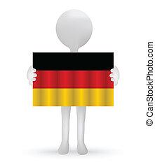 小, 3d, 人, 藏品, a, 德國旗