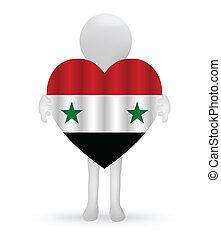 小, 3d, 人, 藏品, a, 敘利亞的旗