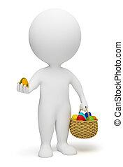 小, -, 3d, 復活節, 人們