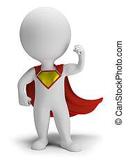 小, -, 3d, superhero, 人们