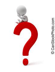 小, people-question, 3d