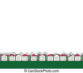 小, seamless, 房地產, 邊框