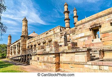 少佐, 観光客, -, 公園, champaner-pavagadh, jami, 魅力, 考古学的, gujarat, インド, masjid
