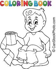 尿壶, 着色书, 男孩