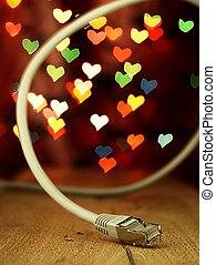 局域网, 心, 背景, 電纜