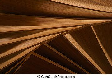 层, 人工, 树木, 面板
