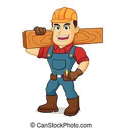 届く, 木, handyman, 板