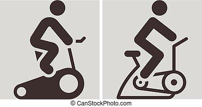 屋内, サイクリング, アイコン