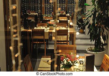 屋内, 贅沢, 現代, レストラン