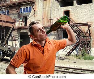 屋外, アルコール中毒患者