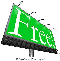 屋外, 単語, no-cost, 無料で, 広告, 広告板, 無料