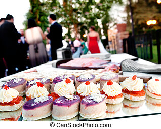 屋外, 食物, 会社, celebrations., catering., parties., でき事, canapes